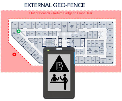 SafePass Visitor Management System Virtual Geofence