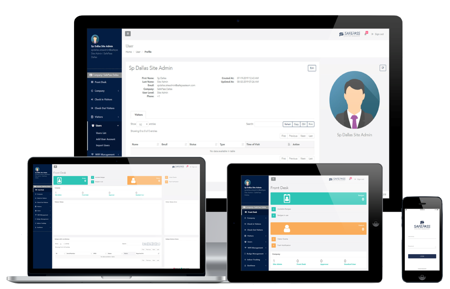SafePass Visitor Manager Management Software
