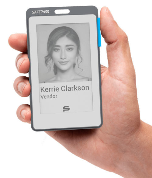Smart E-paper Badge with High Contrast Display