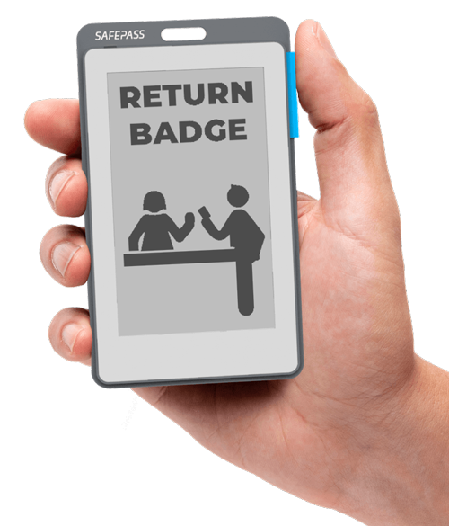 Smart E-paper Badge with External Geo-fence